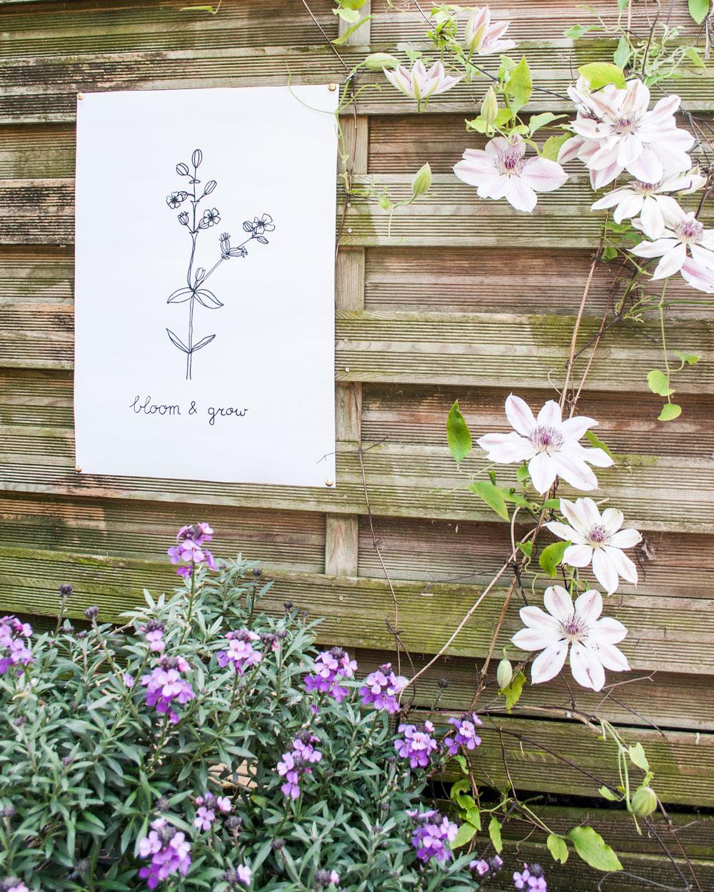 diy tuinposter resultaat sfeer