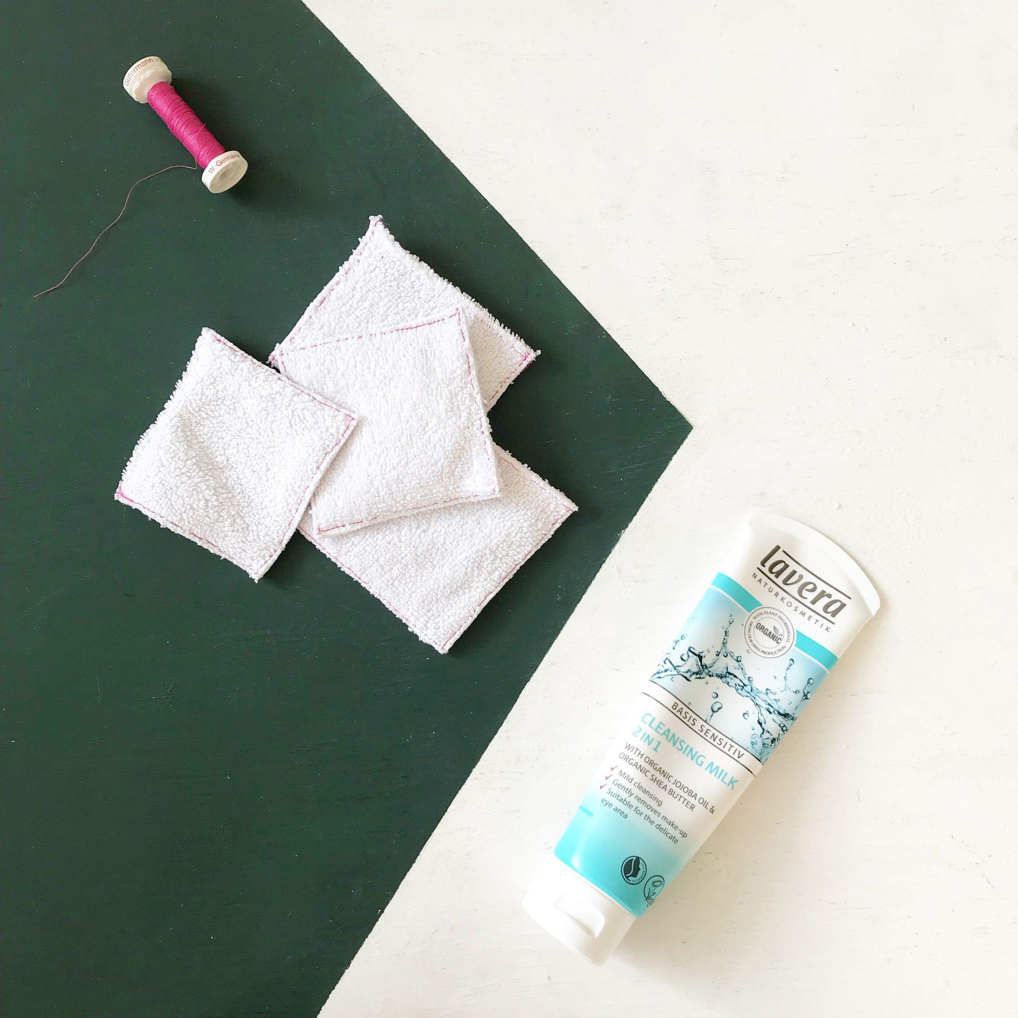 wasbare wattenschijfjes handdoek