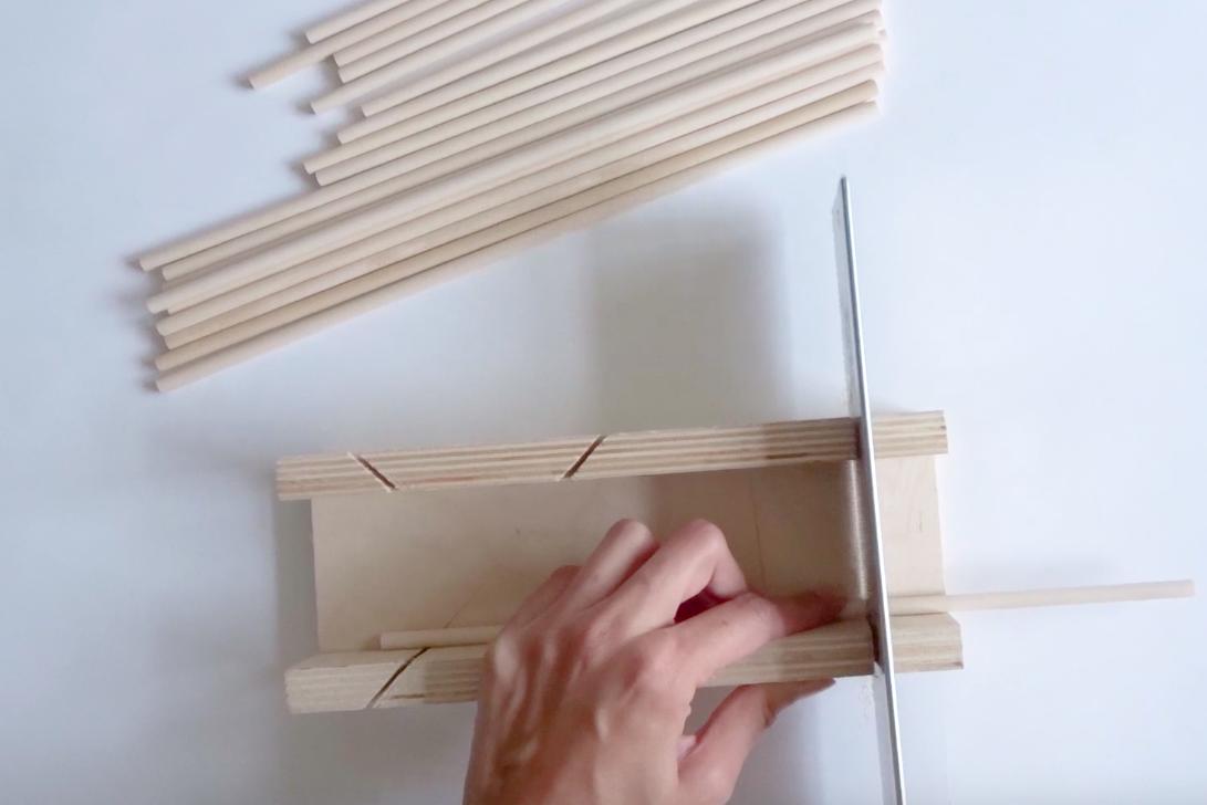 diy houten waxinehouder stap 2