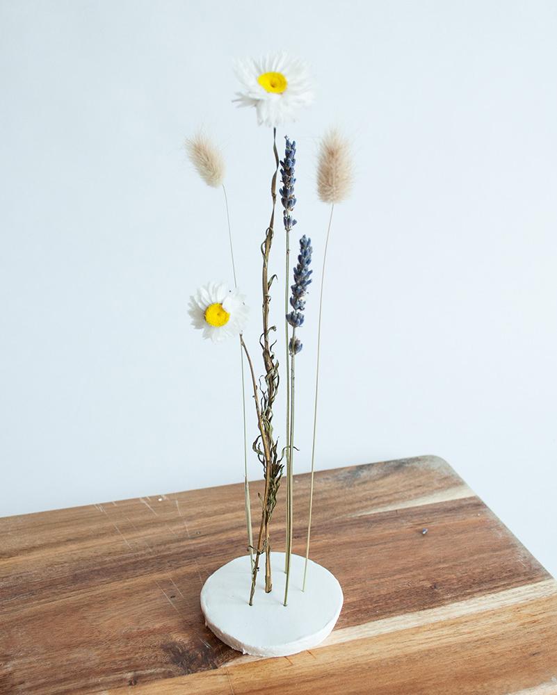 diy kleistandaard droogbloemen resultaat a1
