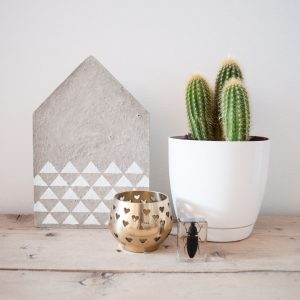 beton huisje sfeer vierkant