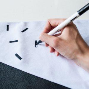 kussenhoes leer print stap