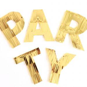 party letters vierkant