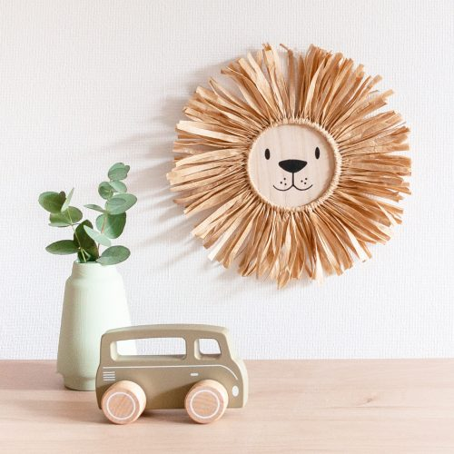 raffiahanger leeuw sfeer licht vierkant