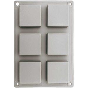 siliconen zeepgietvorm vierkant achter
