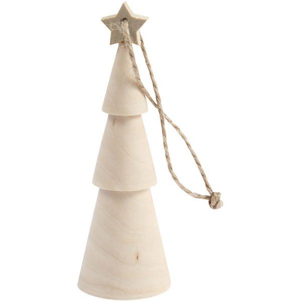 houten kersthanger kerstboom