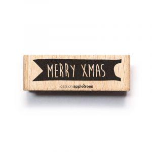 houten stempel merry xmas banner