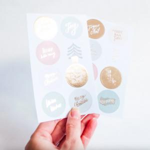 kerst stickers pastel imakin
