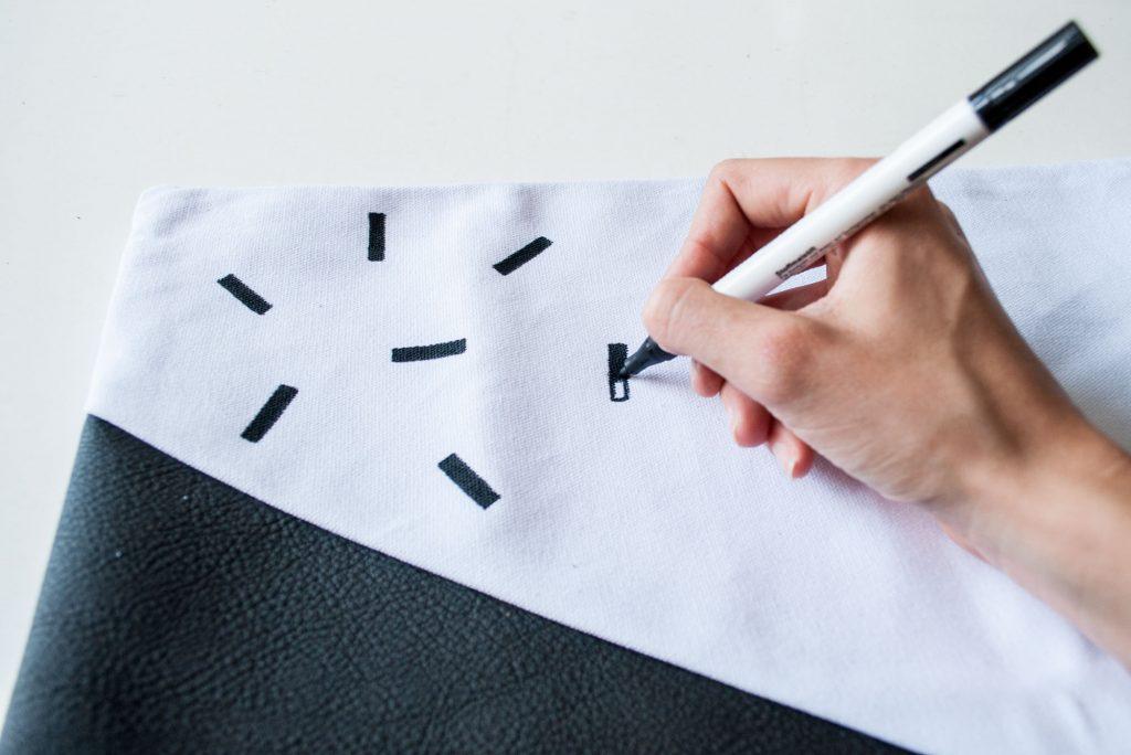 DIY Tutorial Kussenhoes Leer & Print | IMAKIN DIY DESIGN