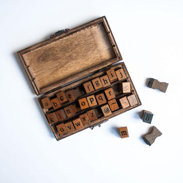 letterstempels alfabet