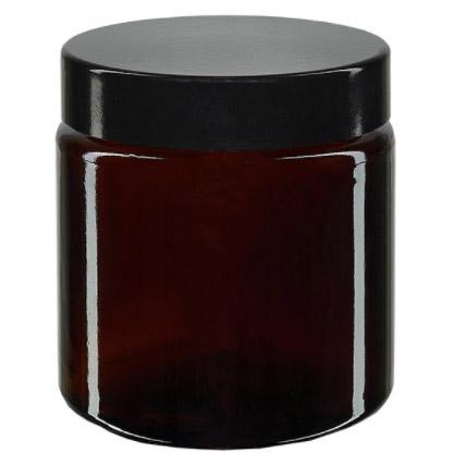 Amber Glas Apothekerspotje met deksel