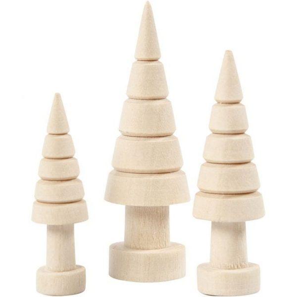 Houten Kerstboom Set van 3
