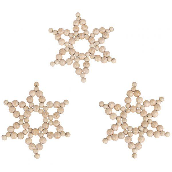 diy houten kralen sterren