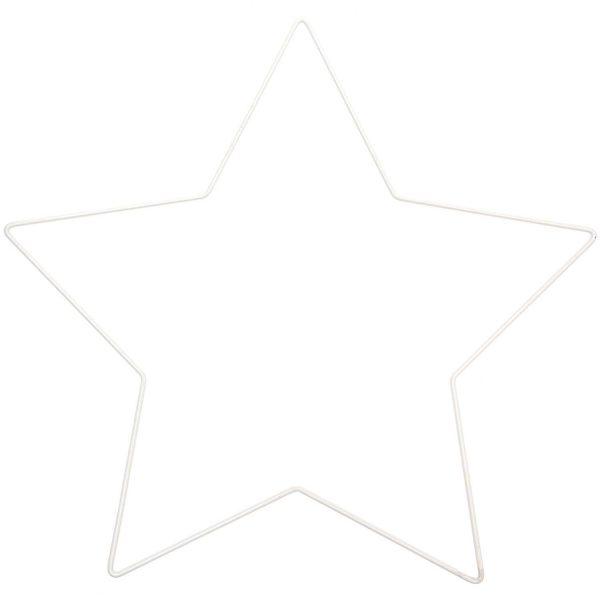 metalen ster ring wit